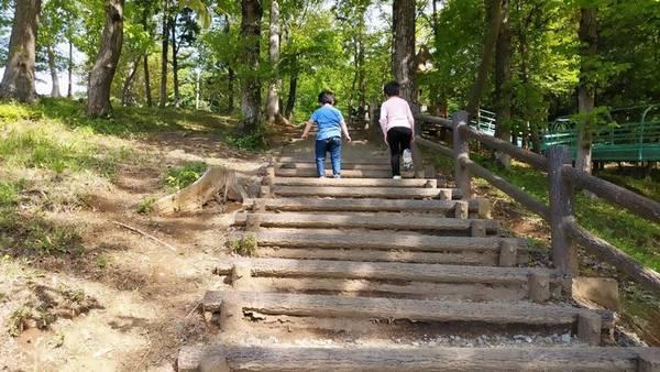 益子町南運動公園階段
