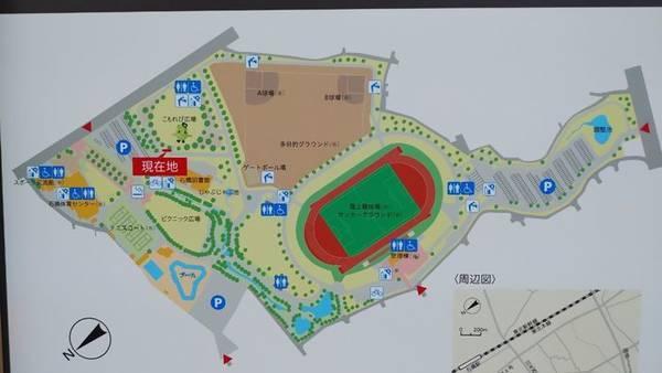 下野市 大松山運動公園 全体図