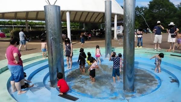 大田原市なかがわ水遊園 噴水