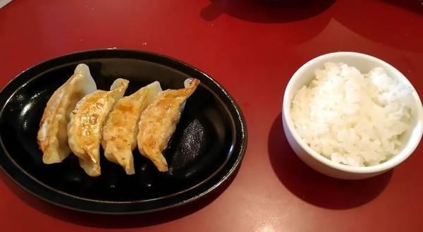 宇都宮市満天家 下栗本店 餃子ライスセット