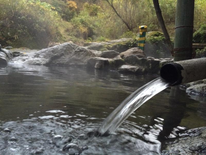 明礬温泉 野湯 へびん湯