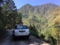 小木森滝への林道