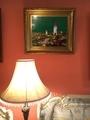 リビングコーラル色の壁