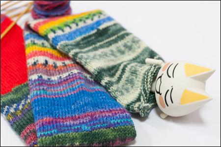 井上トロと編みかけのマフラー