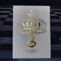 ALICE IN WONDERLAND PLAYING CARDS PLAYERS ED.(GOLD)