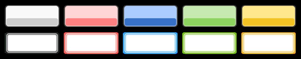 【商用フリー】unityゲーム制作で使えるボタンのテクスチャ(画像)作ったよ【無料】