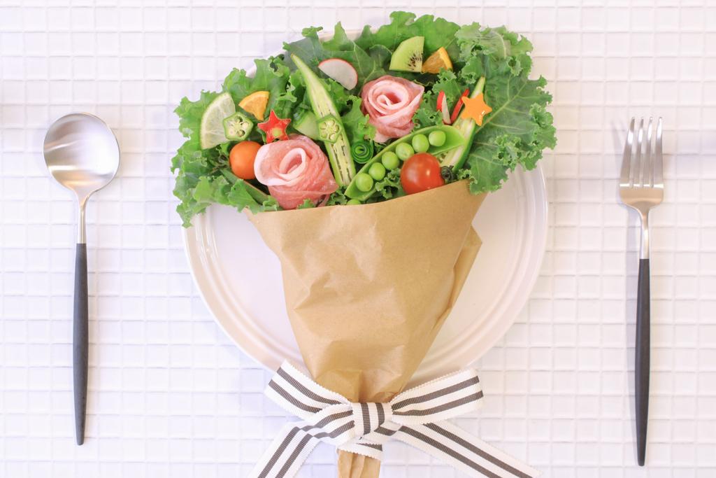 サラダ花束