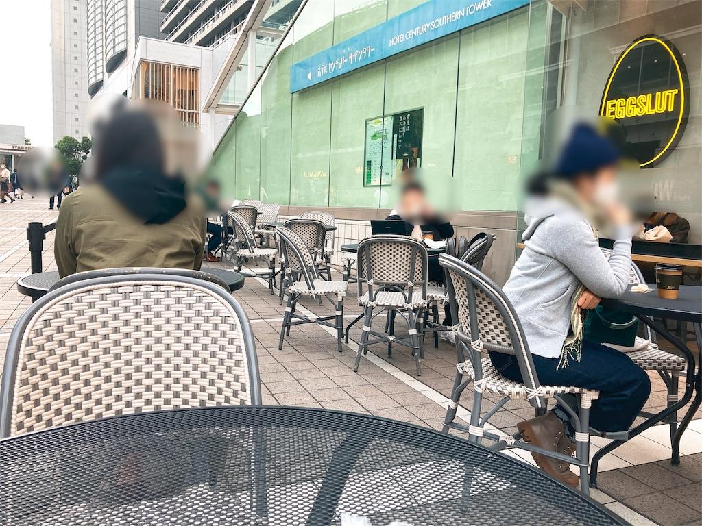JR中央線新宿駅南口のサザンテラスのBOULE'ANGE(ブールアンジェ)のテラス席