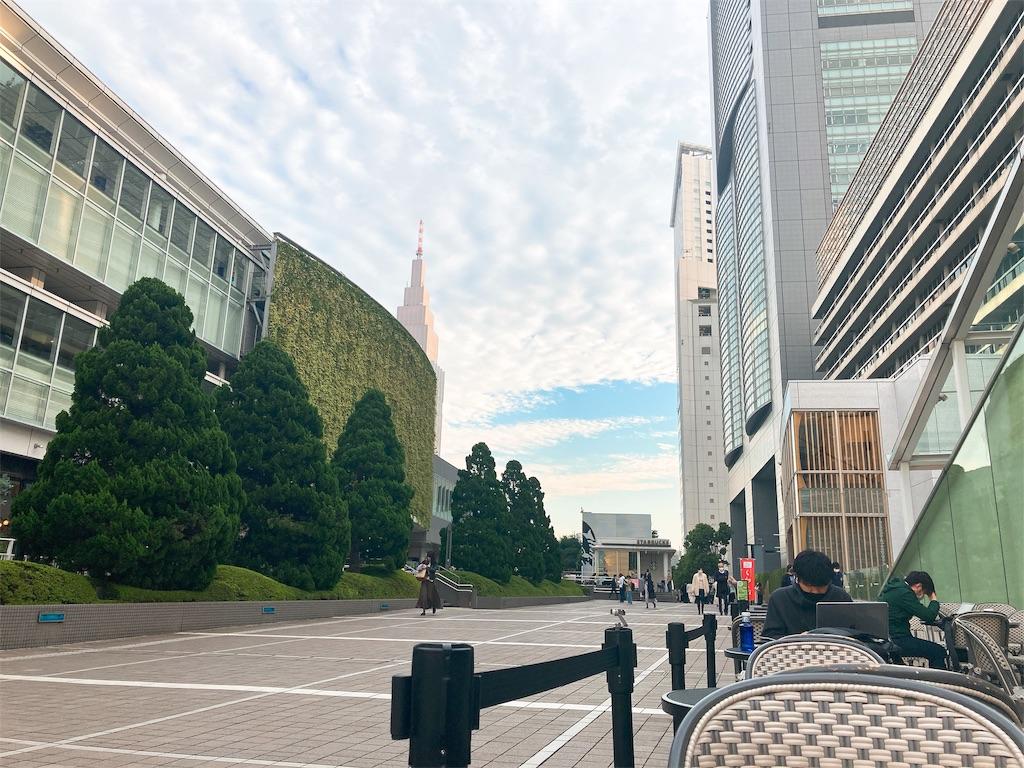 JR中央線新宿駅南口のサザンテラスのBOULE'ANGE(ブールアンジェ)のテラス席からの眺め