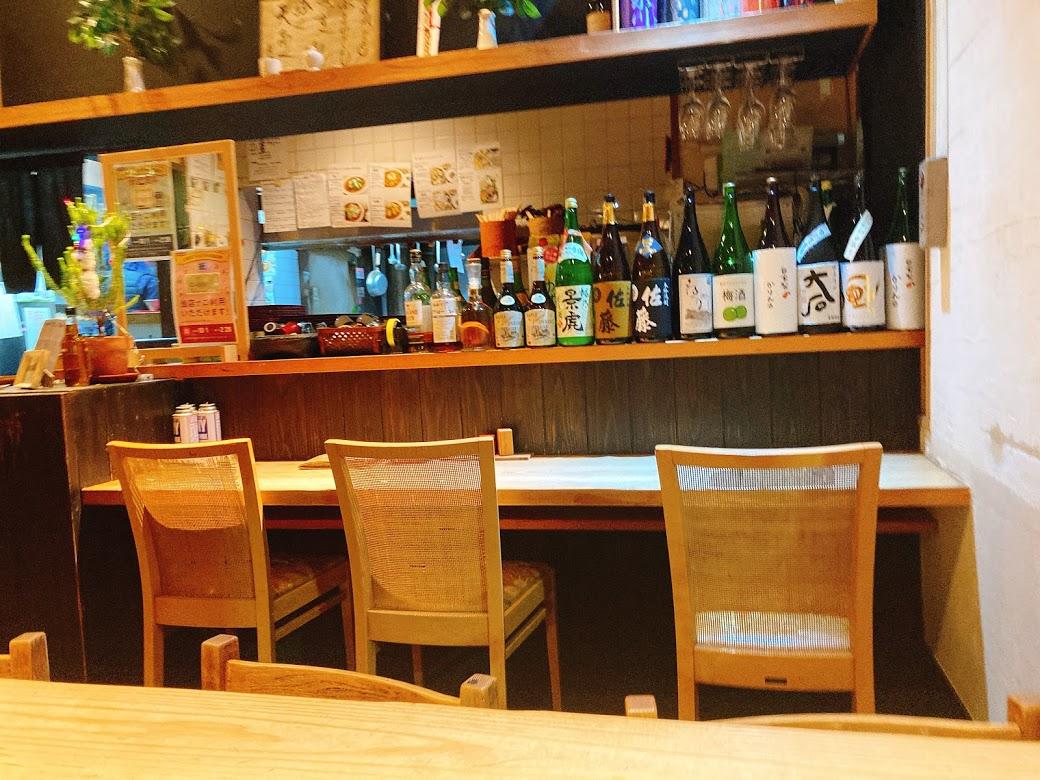 JR中央線三鷹駅の蕎麦(そば)屋さん『や乃家』の店内の様子