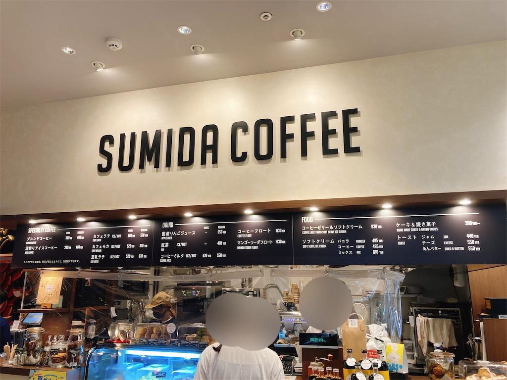 JR中央総武線錦糸町駅パルコのフードコート内にあるSUMIDACOFFEE(すみだ珈琲)の店舗外観