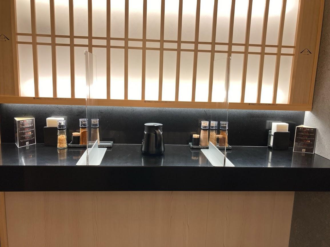 JR中央線東京駅の改札駅内にある『蕎麦29東京』の店内の様子