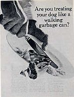 Are you treating your dog like a walking garbage can?