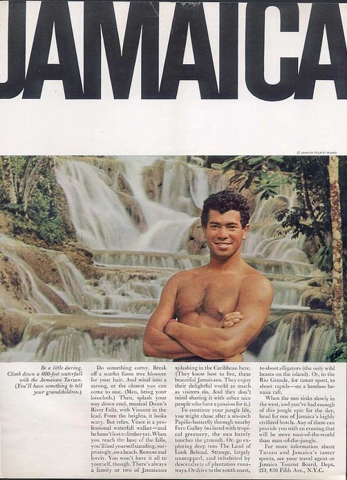 Be a little daring, Climb down a 600-foot waterfall with the Jamaican Tarzan. (You'll have somet