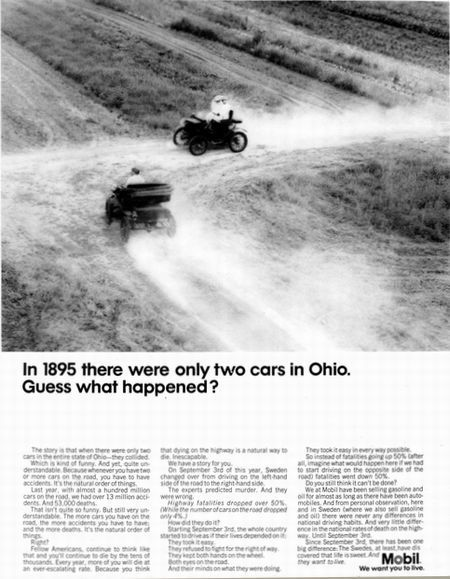 In 1895 there were only two cars in Ohio. Guess what happened?