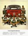 [フォルクスワーゲン][ad][車][VW][VW wagon][ad][1969]It can manage the whole team.