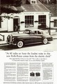 """[Rolls-Royce]""""At 60 miles an hour the loudest noise in this new Rolls-Royce comes from the electric clock"""""""