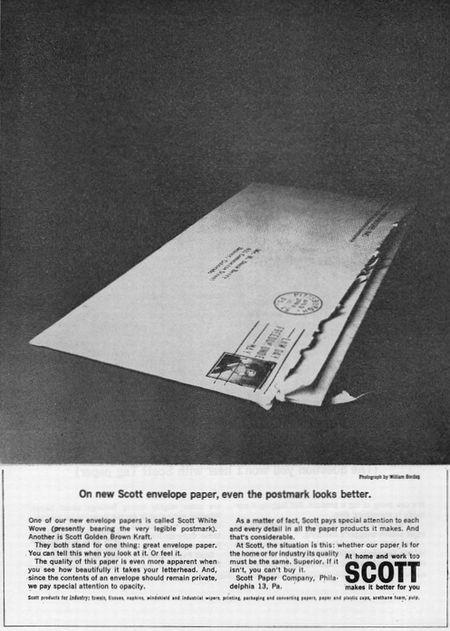 On new Scott envelope paper, even the postmark looks better.