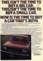 [VOLVO][1974]THIS ISN'T THE TIME TO BUY A BIG CAR. THIS ISN'T THE TIME TO BUY A SMALL CAR.NOW IS THE TIME TO