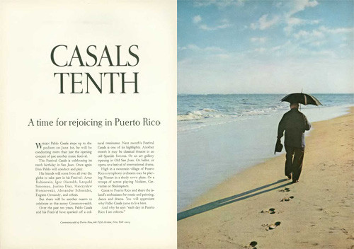 CASALS TENTH A time for rejoicing in Puerto Rico