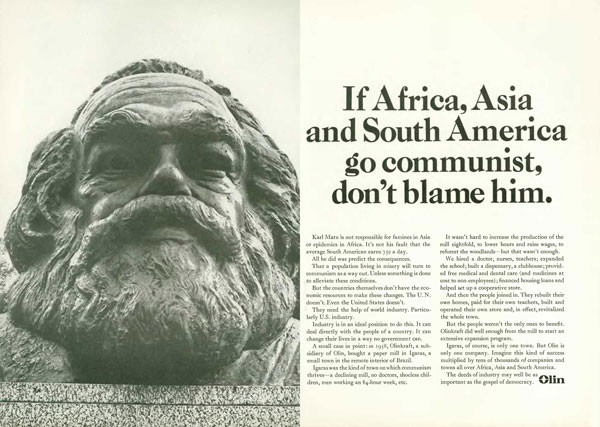 If Africa, Asia and South America go communist, don't blame him.