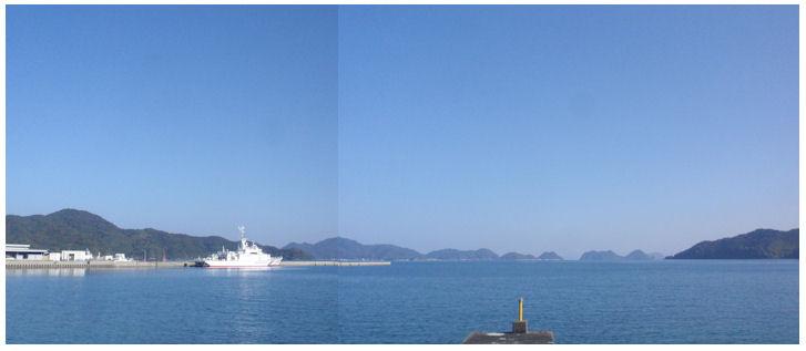 青い空と海の仙崎 - チューメイくんの田舎ぐらし