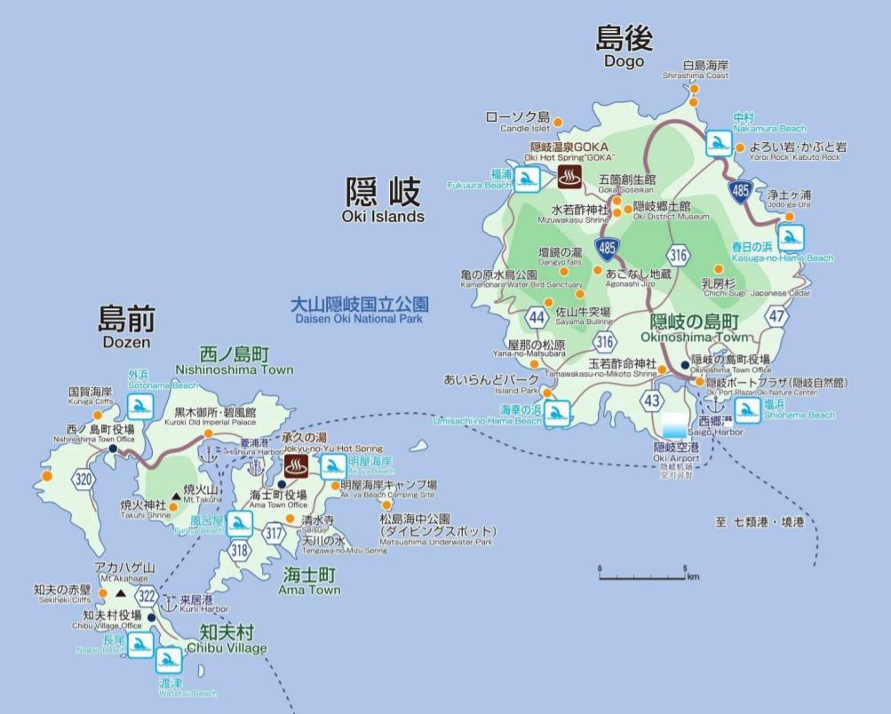 隠岐の島 地図