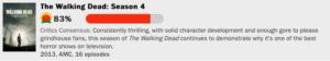 ウォーキング・デッドシーズン4の評価点数