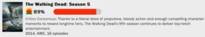 ウォーキング・デッドシーズン5の評価点数