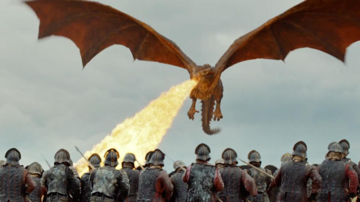 巨大なドラゴン ゲーム・オブ・スローンズ