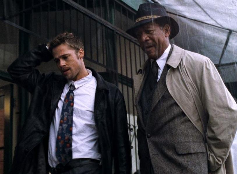 セブン(映画)のモーガン・フリーマンとブラッド・ピット