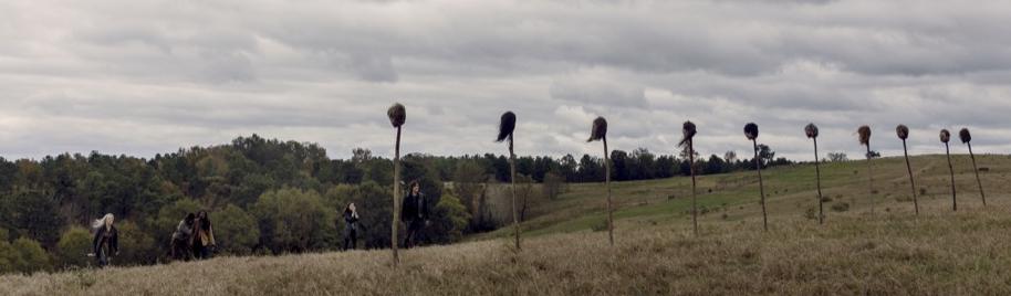 ウォーキング・デッド9-15話 タラ、イーニッド、ヘンリーの生首