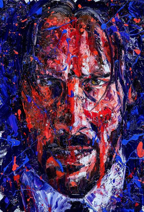 『ジョン・ウィック:パラベラム』の芸術的な絵