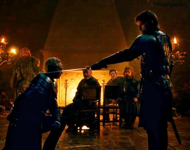 ブライエニーを騎士にしたジェイミー