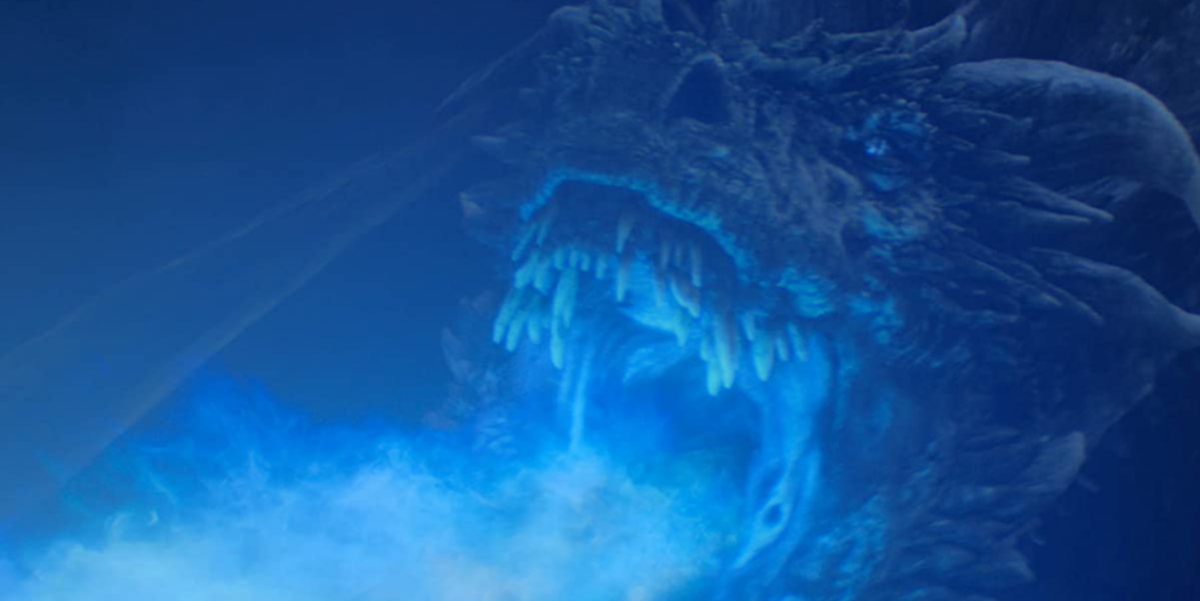 青い炎を吐くドラゴン
