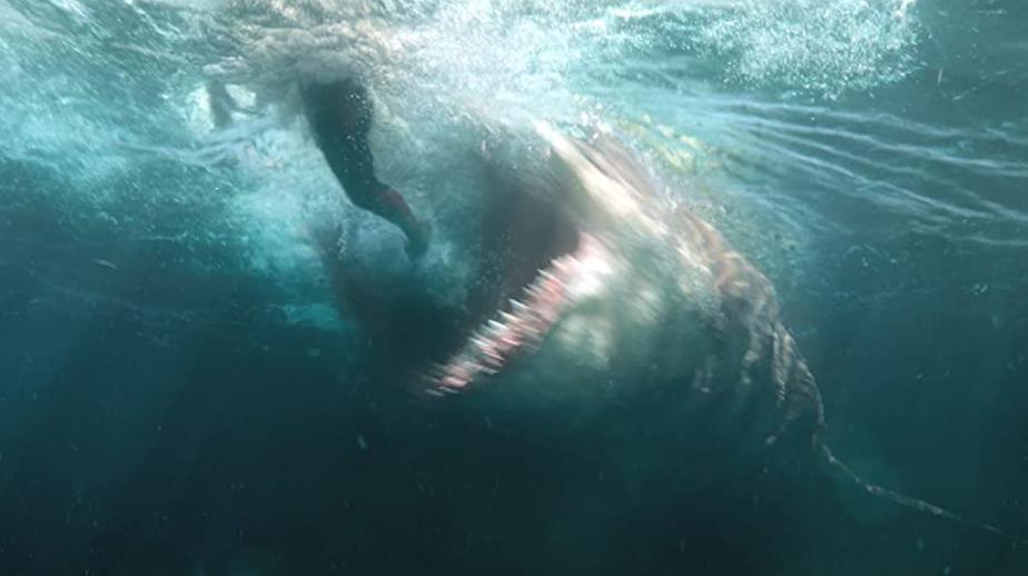 ジェイソン・ステイサムと巨大サメ