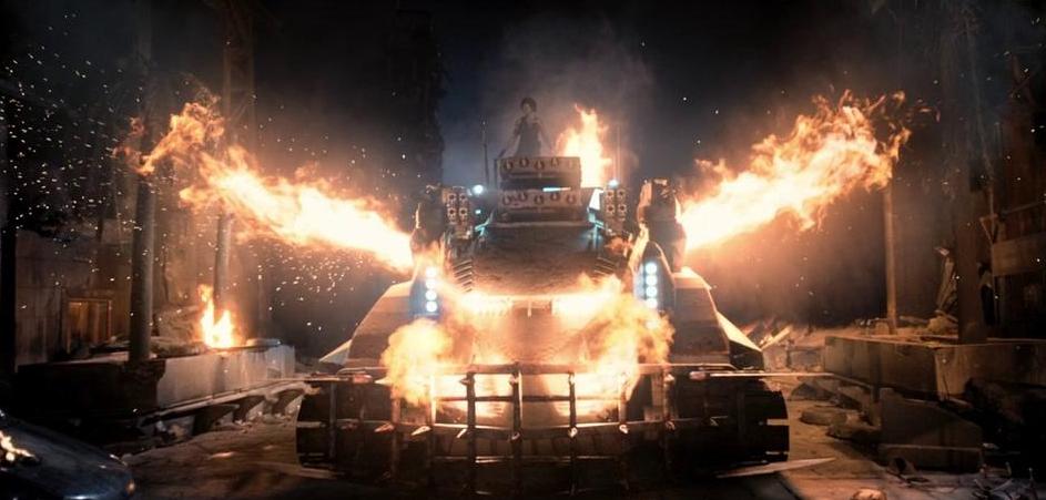 燃える戦車