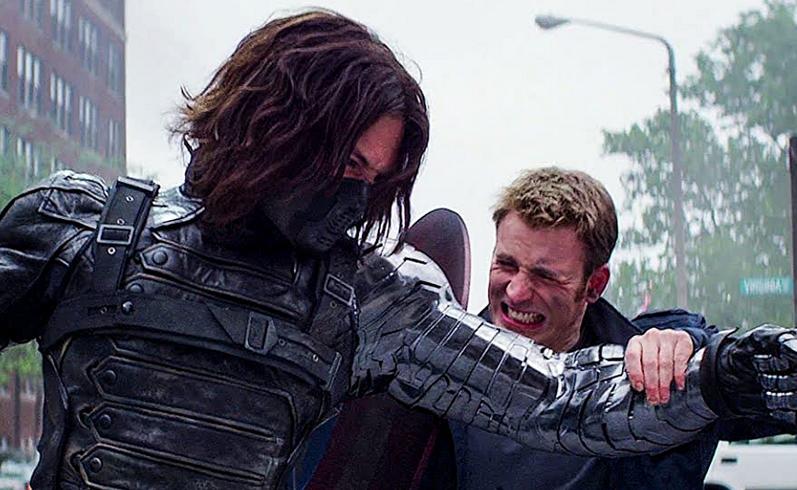 ウィンターソルジャーとスティーヴの戦い