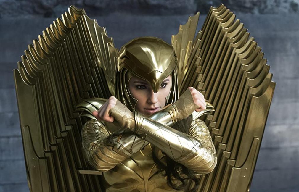 黄金の鎧を着たワンダーウーマン