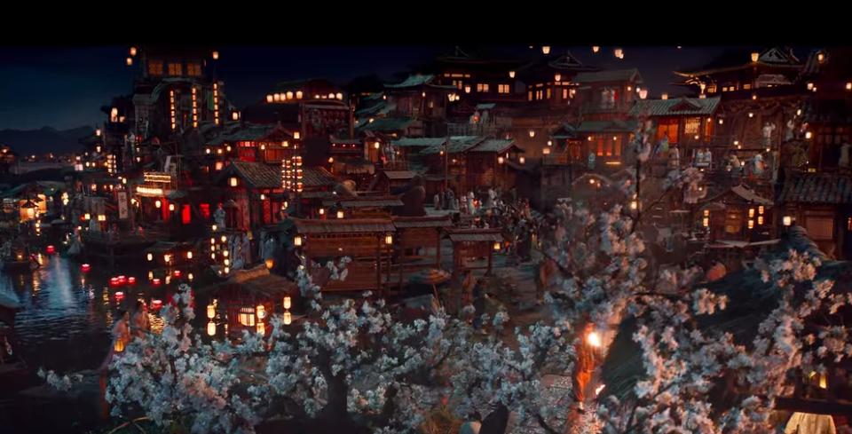 陰陽師:とこしえの夢で描かれる美しい中国の街並み