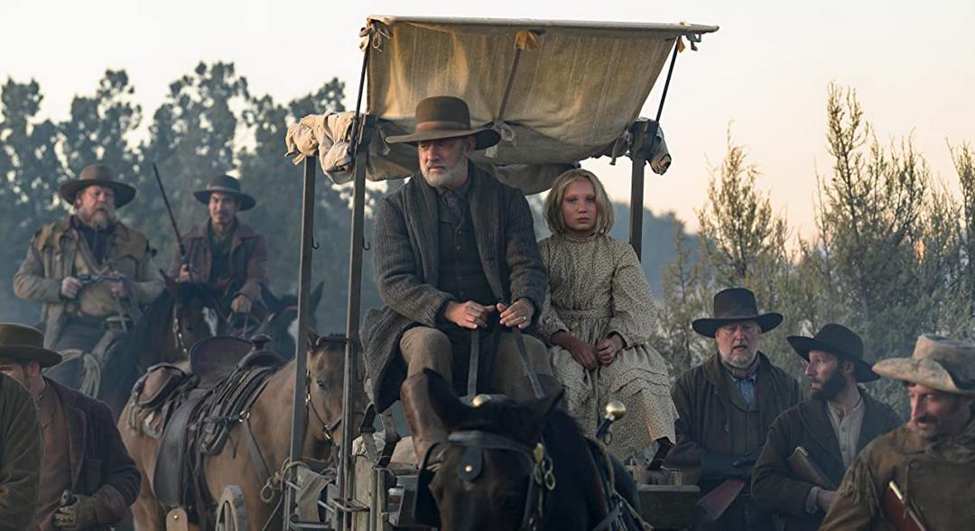 馬車ですすむ主人公キッド大尉とジョハンナ