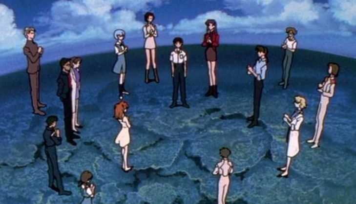 エヴァンゲリオンアニメ最終回「僕はここにいていいんだ」のみんなの拍手シーン