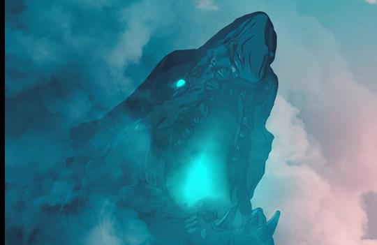 青い炎を吐く怪獣