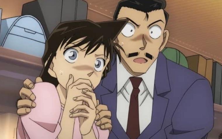 コナンを心配する蘭と小五郎