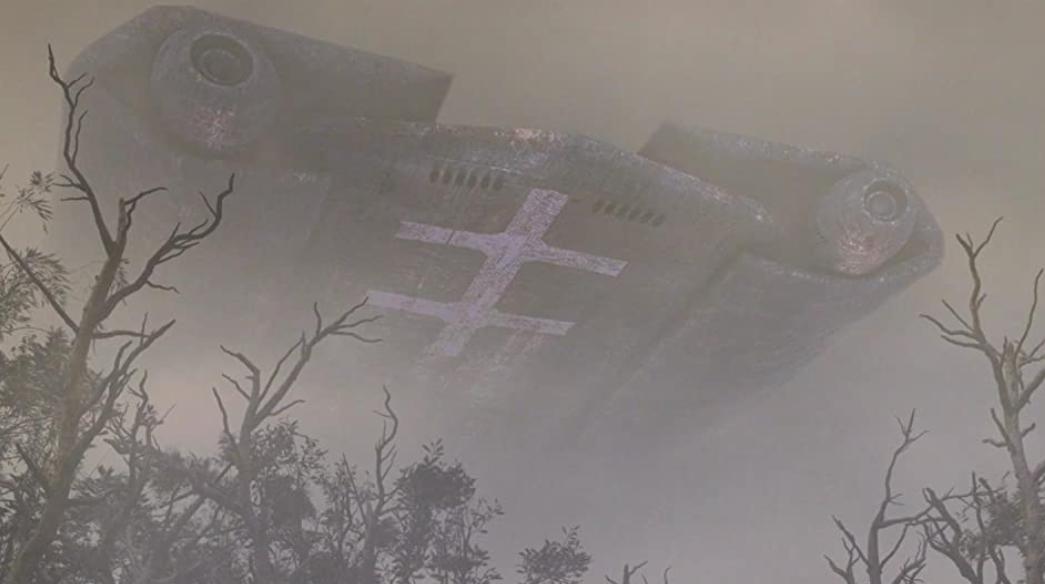 巨大な飛行戦艦
