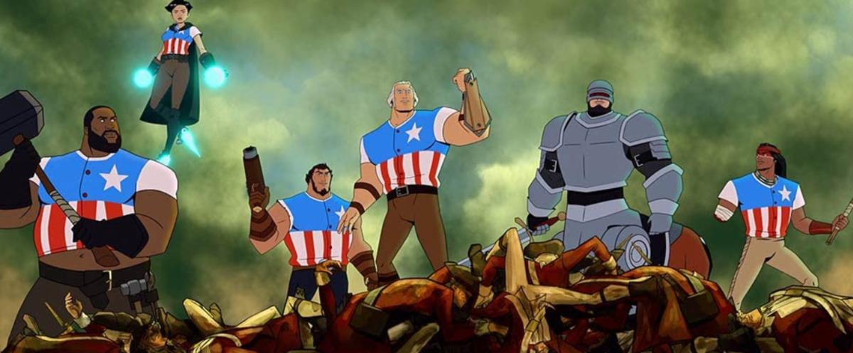 『アメリカThe Movie』終盤の独立戦争のシーン