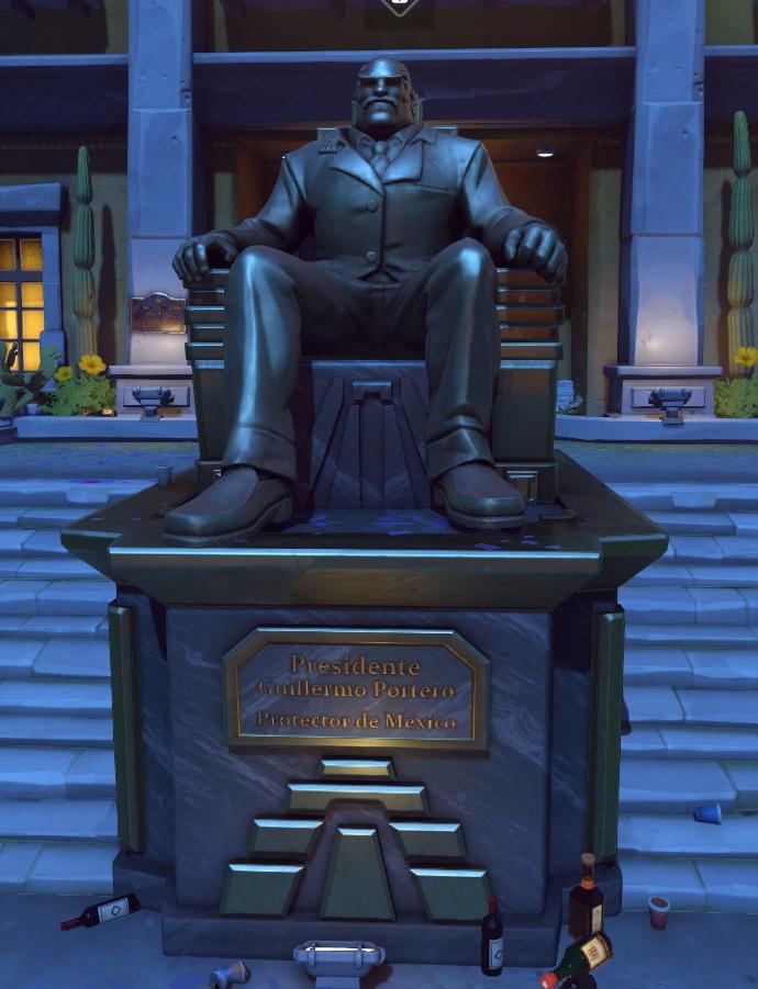 ドラドのGuillermo Portero銅像