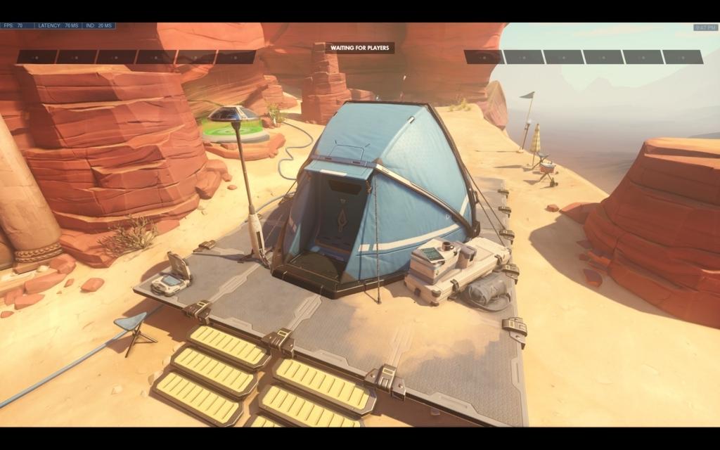 ペトラ調査団のキャンプ