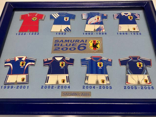 サッカー日本代表歴代ユニフォームピンバッジ