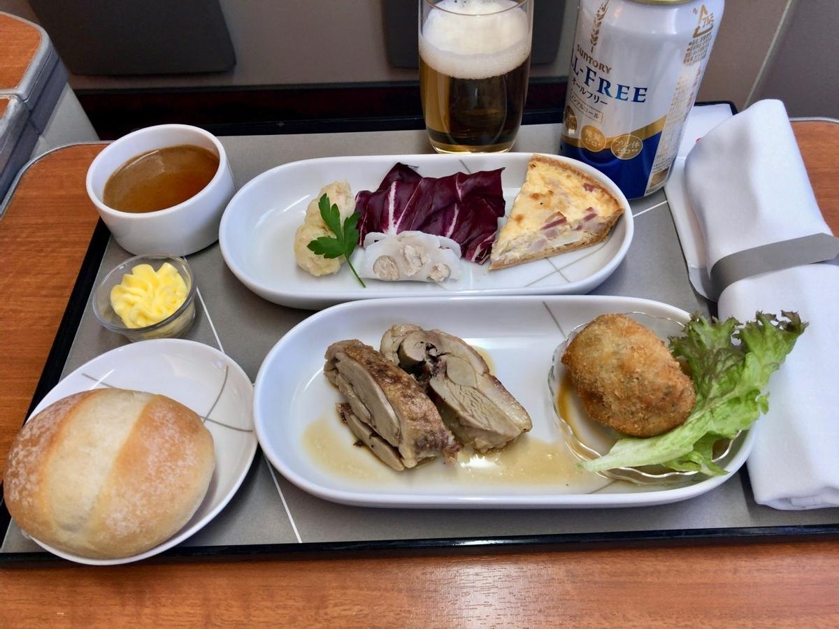 JALファーストクラスの食事